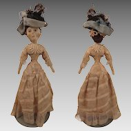 Antique Cloth Lady Doll 11 inches all Original