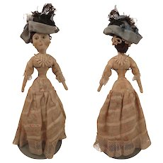 Antique Cloth Lady Doll 11 inches all Original - Red Tag Sale Item