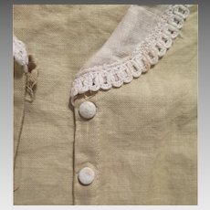 1920s Linen Jacket for Doll