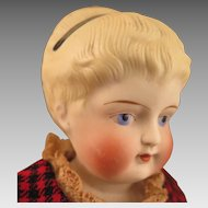 Antique Parian Bisque Doll with Headband 15 inches