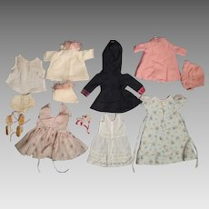12 pc 1930s Shirley Temple Clothing Set 16 inch