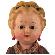 1870s Wax over Papier Mache Doll 20 inch - Red Tag Sale Item