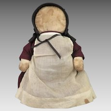 Vintage Amish Cloth Doll 11 inches
