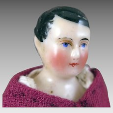 Early Peg Wooden China Doll Man 5.5 inches