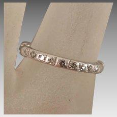 Vintage Diamond Platinum Ring size 6.5