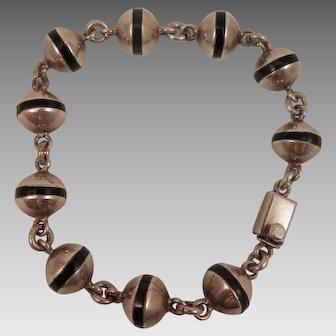 Vintage Sterling Enamel Balls Bracelet Mexican