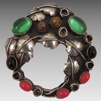 Vintage Sterling Silver Arts and Crafts Brooch