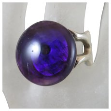 Amethyst Sterling Silver Ring Size 6.75