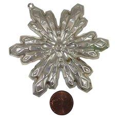 Gorham 1974 Sterling Christmas Snowflake Ornament