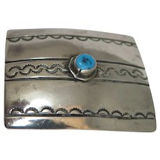 Sterling Silver Turquoise Buckle American South Western