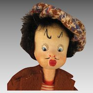 Vintage Spanish Klumpe Thief Burglar Doll
