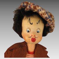 Vintage Spanish Klumpe Thief Burglar Doll