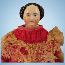 1860s-70s German China Doll with Original Body 15 inch