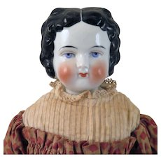 1880 Patent Bawo Dotter China Doll 19 inches