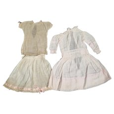 Antique Pale Pink Dress for Doll 18-20 inches