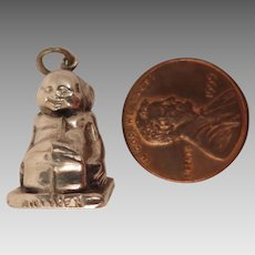English Sterling Silver 1908 Billiken Charm Pendant