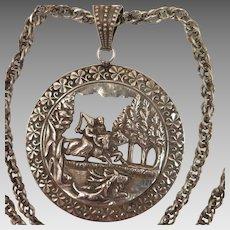 Antique Fairy Tale Pendant Necklace
