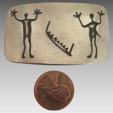MCM Pewter Viking Runes Brooch by Jorgen Jensen 162 Denmark