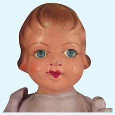 1940s Vintage European Composition Doll 13 inches