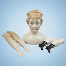 Vintage Artist China Head Doll plus Parts