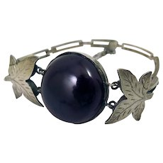 Vintage 900 Silver Bakelite Bracelet