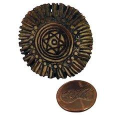 18th c Bronze Seal Afghanistan Jewish Star of David Pendant