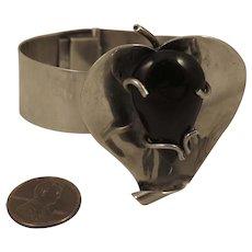 Vintage Sterling Silver Mexican Leaf Bracelet