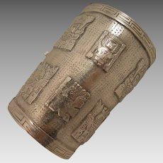 Vintage Sterling Silver Peru Cuff Bracelet