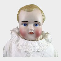 1870s-80s ABG Bisque Boy Doll 19 inches Model 508