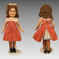 14 inch Composition 1939-1941 Deanna Durbin Doll Mayfair Twist Waist Body