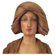 1940s Wood Lady Doll Manikin 18 inches