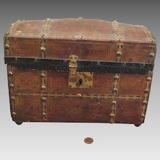 Antique Domed Doll Trunk