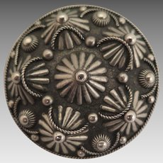 Antique Scandinavian Pewter Brooch