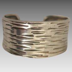 Vintage Charles Albert Sterling Silver Bracelet Cuff