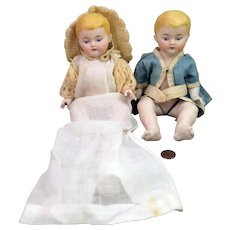 9 inch ABG All Bisque Baby Doll x 2