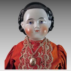 ABG 1870s Alice China Doll 22 inches