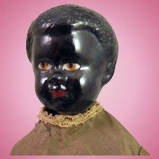 "Antique German Black China Doll 11"""