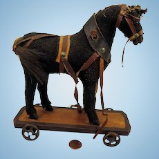 Antique Horse Pull Toy