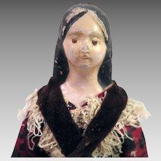 1850s Milliner Model Papier Mache Doll 7.75 inches