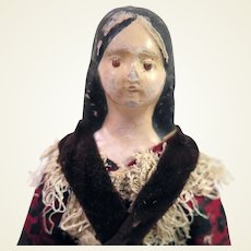 1850s Milliner Model Papier Mache Doll 7.75 inches