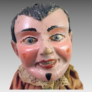 Antique Wood Puppet Jester Doll 13 inches
