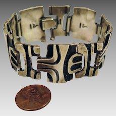 1960s Brutalist Sterling Silver Bracelet