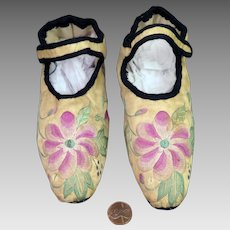 Antique Chinese Embroidered Slipper Shoes