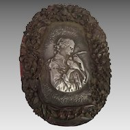 Antique Cosmetic Dresser Box Lady with Dove