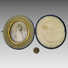 Antique Cased Photograph Girl with Doll