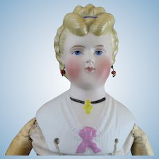 1870s ABG Fancy Bisque Parian Doll 13.5 inches