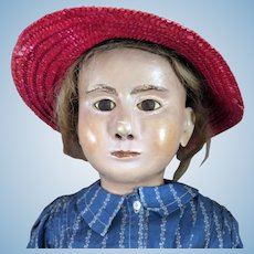 Antique Papier Mache Manikin Doll 29 inches