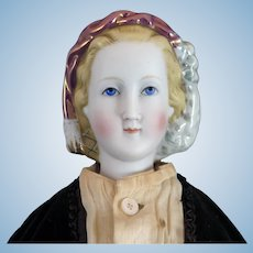 Alt Beck Gottschalck Bisque Parian Snood Doll 21 inches