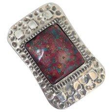 Arts & Crafts Enamel Sterling Silver Brooch