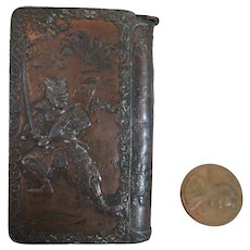 Copper Match Safe Vesta Japanese Antique